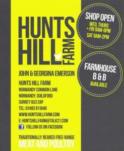 Hunts Hill Farm advert new